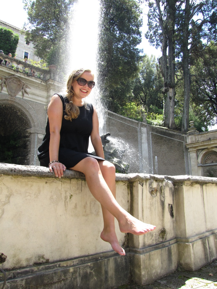 Sheelagh in Villa d'Este