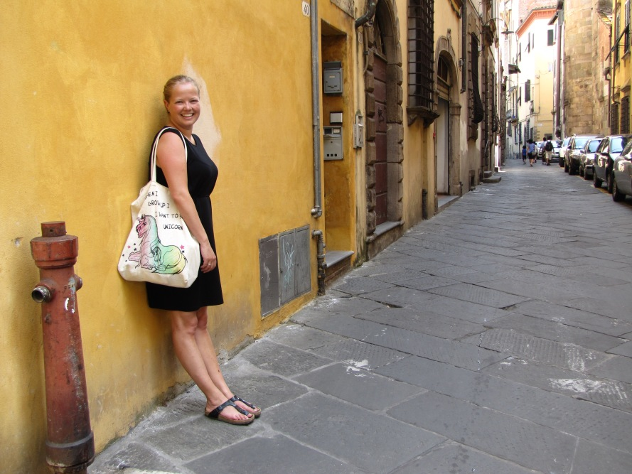 Sheelagh in Lucca