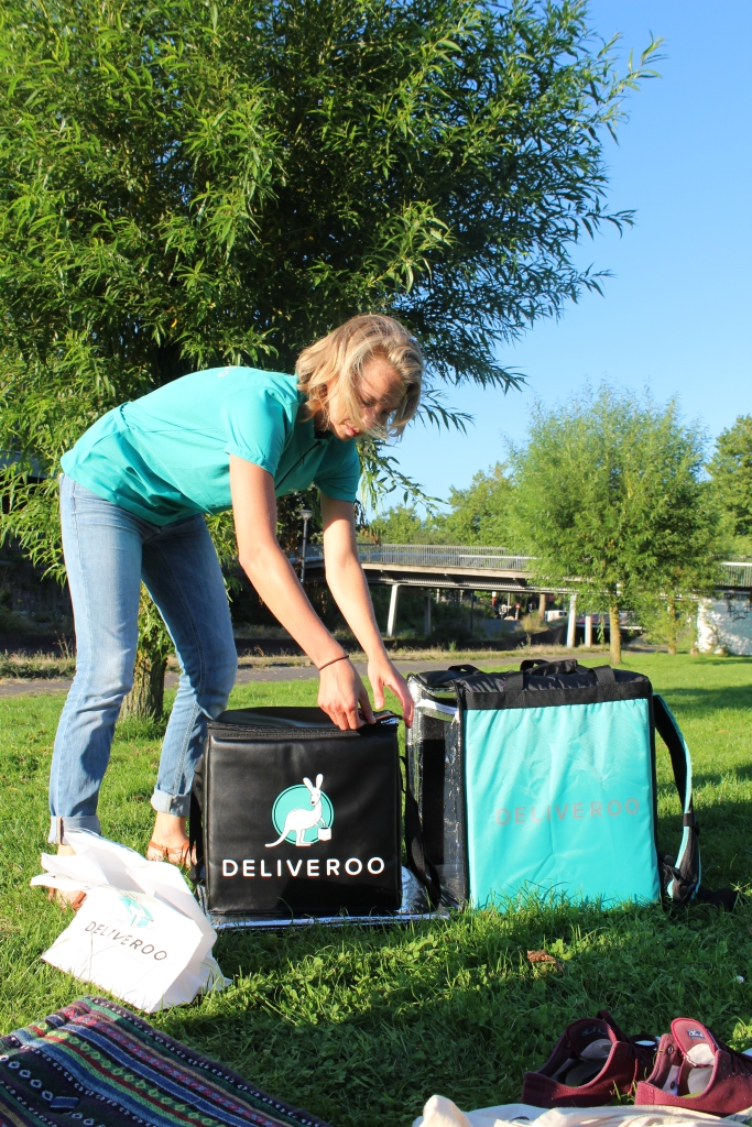 Deliveroo in het park